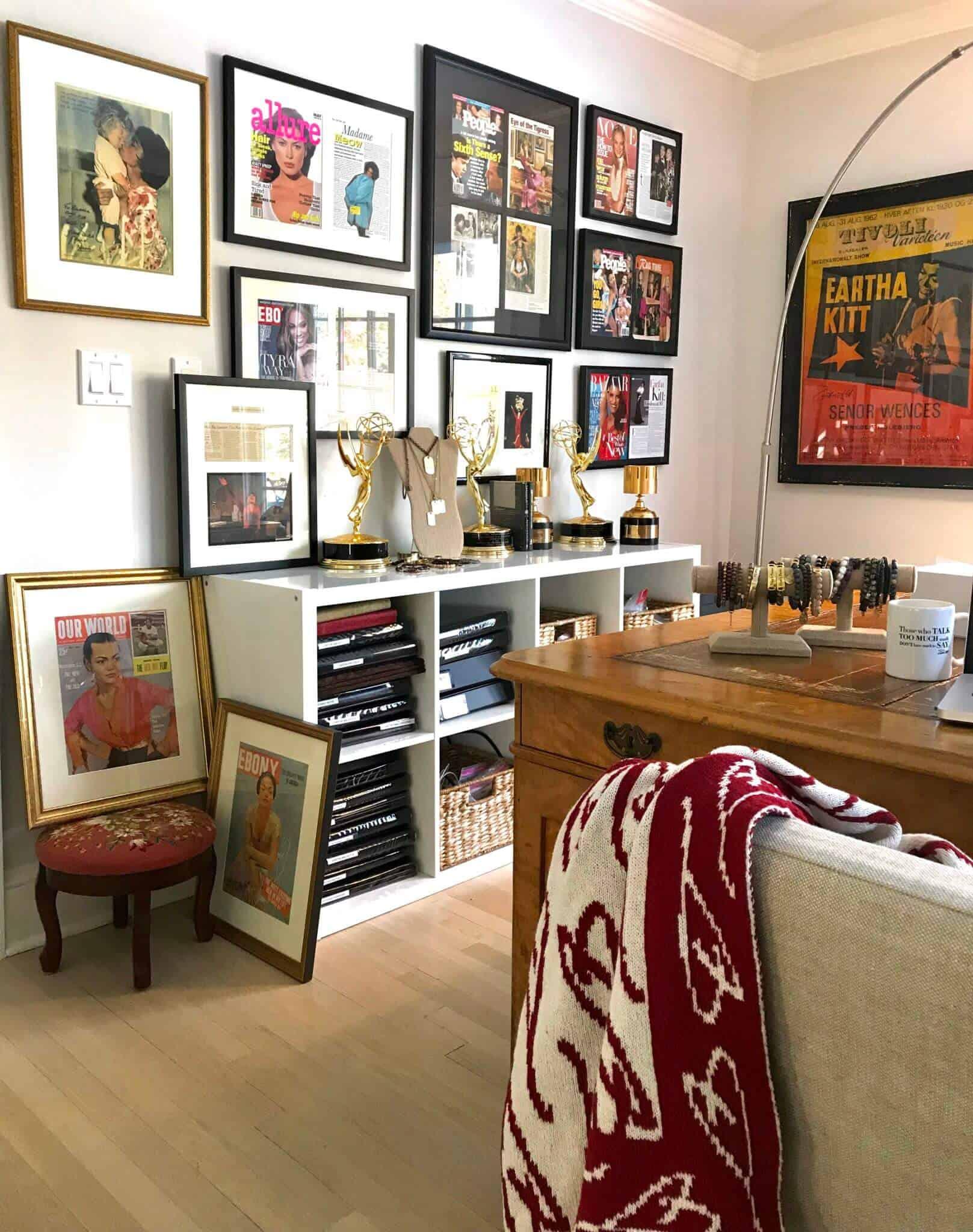 Eartha Kitt's daughter, Kitt Shapiro, shares her home office