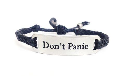 Don't Panic bracelet black