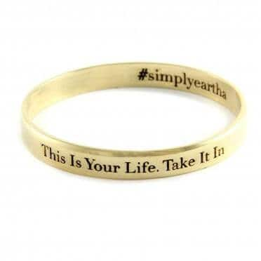 Simply Eartha This Is Your Life bangle gold