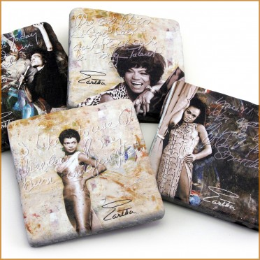 Simply Eartha Tumbled Stone Coasters