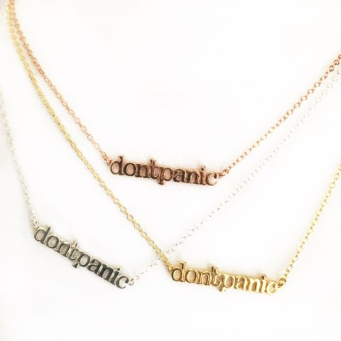 Don't Panic Chain Necklaces
