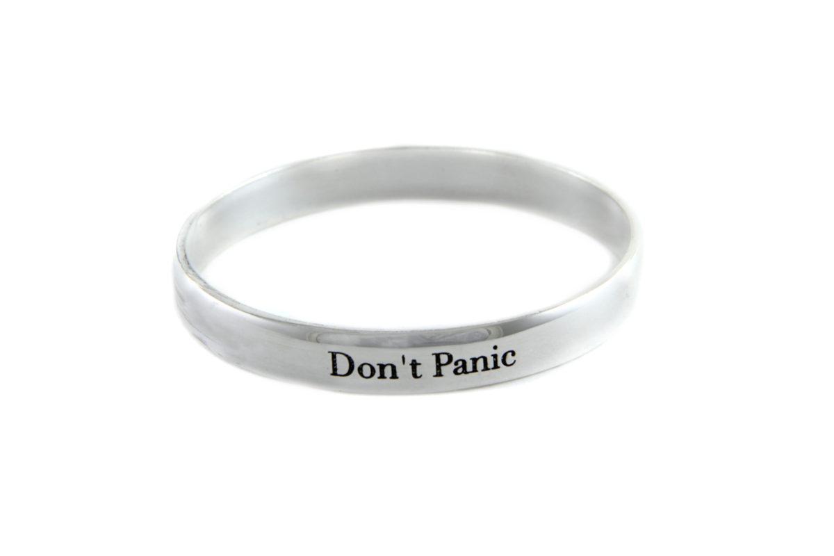 Don't Panic Bangle silver