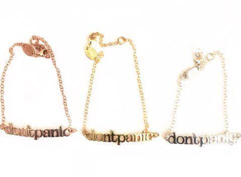 Don't Panic Chain Bracelet