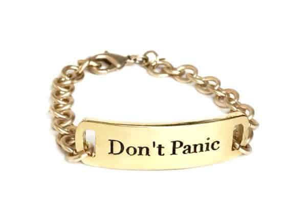Don't Panic self-help motivational jewelry