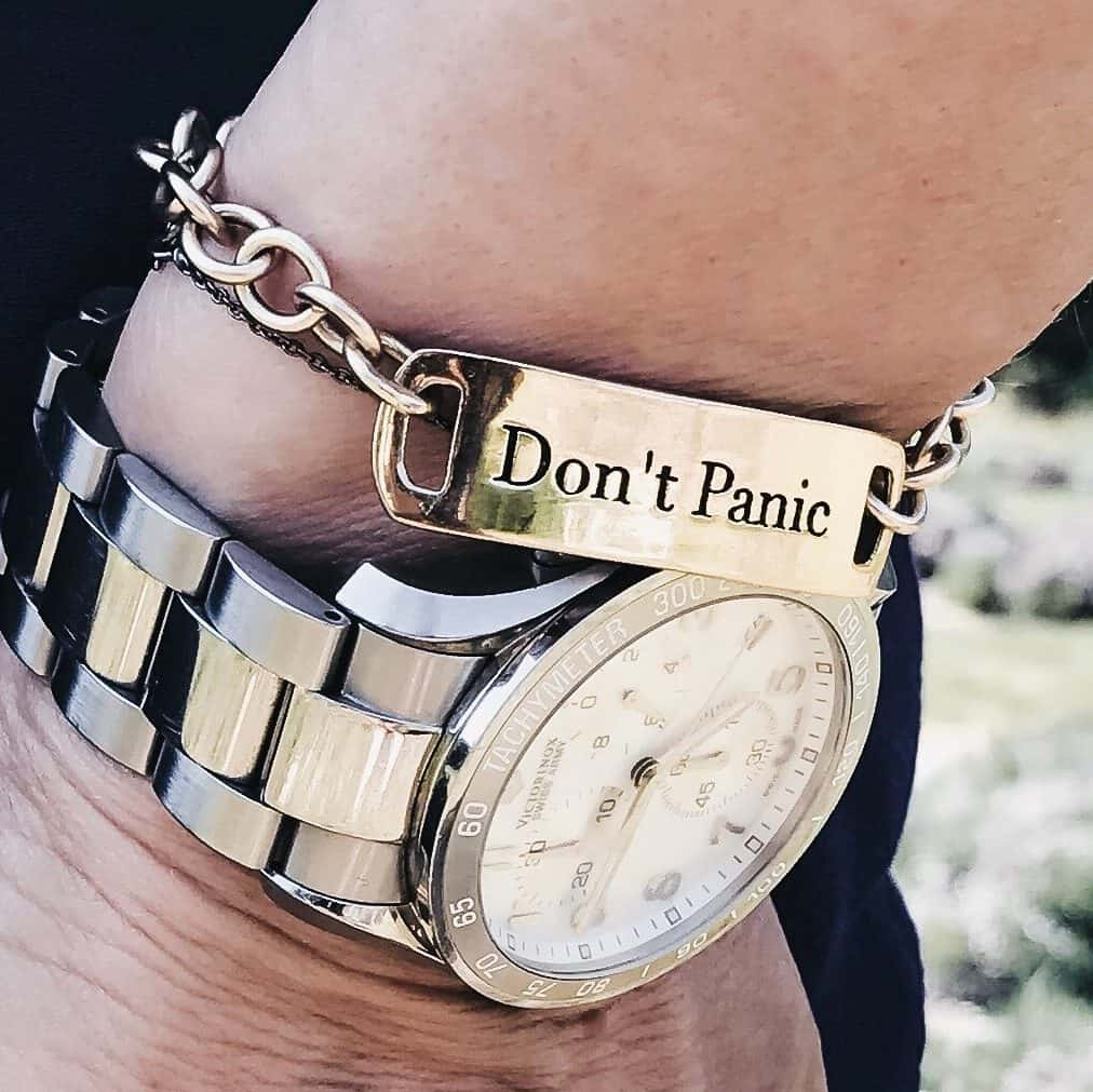 My Don't Panic self-help kit link bracelet