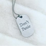 Simply Eartha Don't Panic dog tag