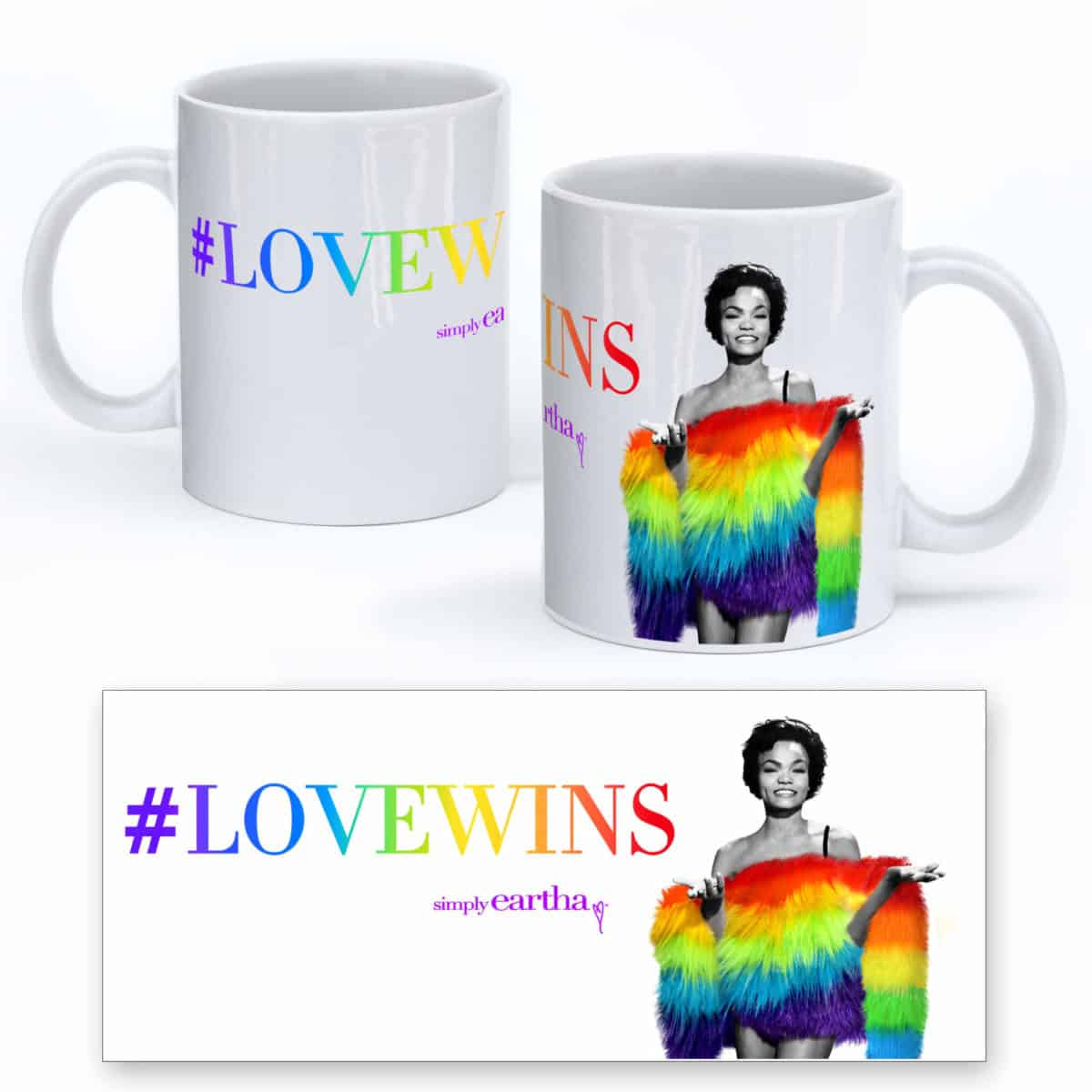 Eartha Kitt LoveWins mug