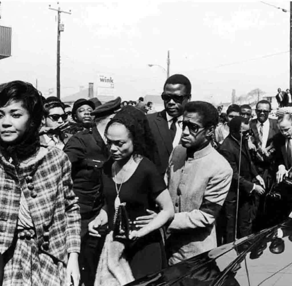Eartha Kitt et al at Martin Luther King funeral