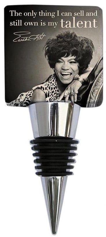 Eartha Kitt Kittism bottle stopper