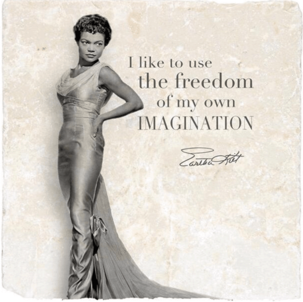 Eartha Kitt wisdom coaster