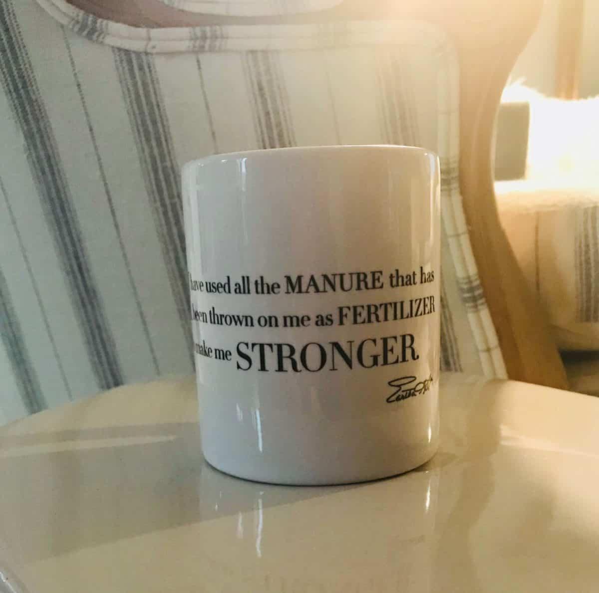 inspirational word mug