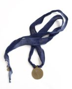 Simply Eartha Here's To Life Blue Silk Necklace