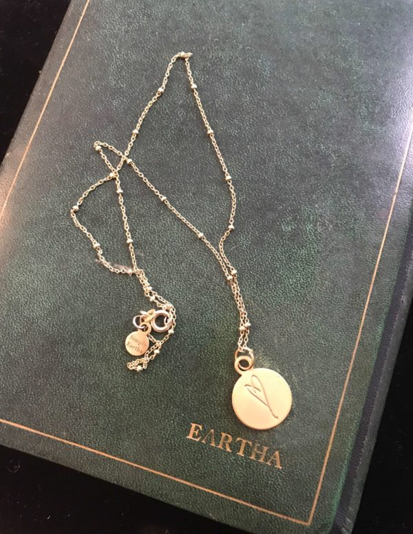 Eartha Kitt's journal with Her Heart necklace
