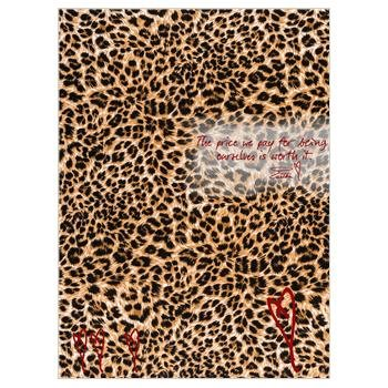 oversized animal print scarf silk georgette