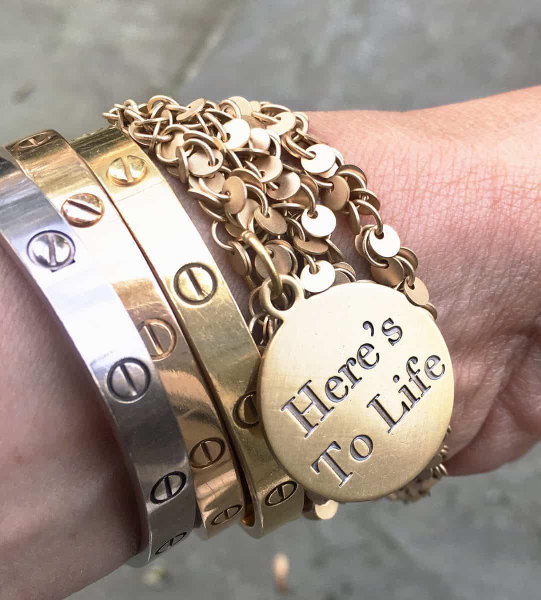 Simply Eartha Wrap bracelet stack