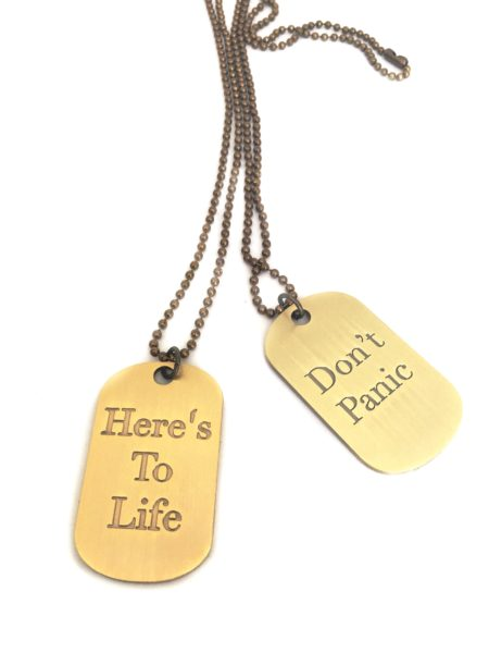Simply Eartha dog tags