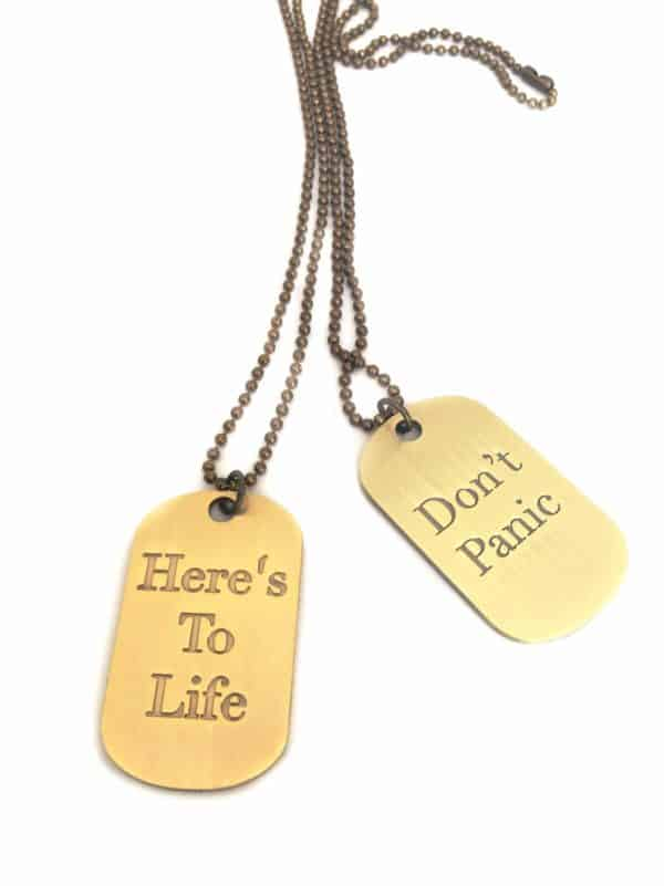 Eartha Kitt wisdom inspirational jewelry dog tags
