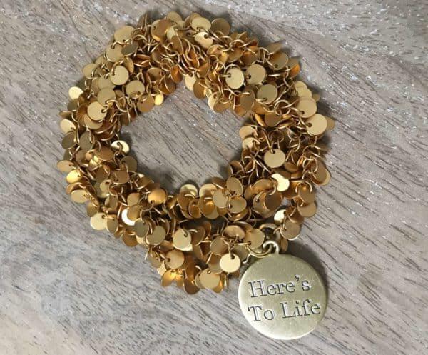 Simply Eartha Here's To Life bracelet