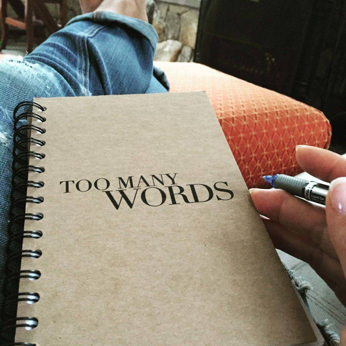 Too Many Words notebook