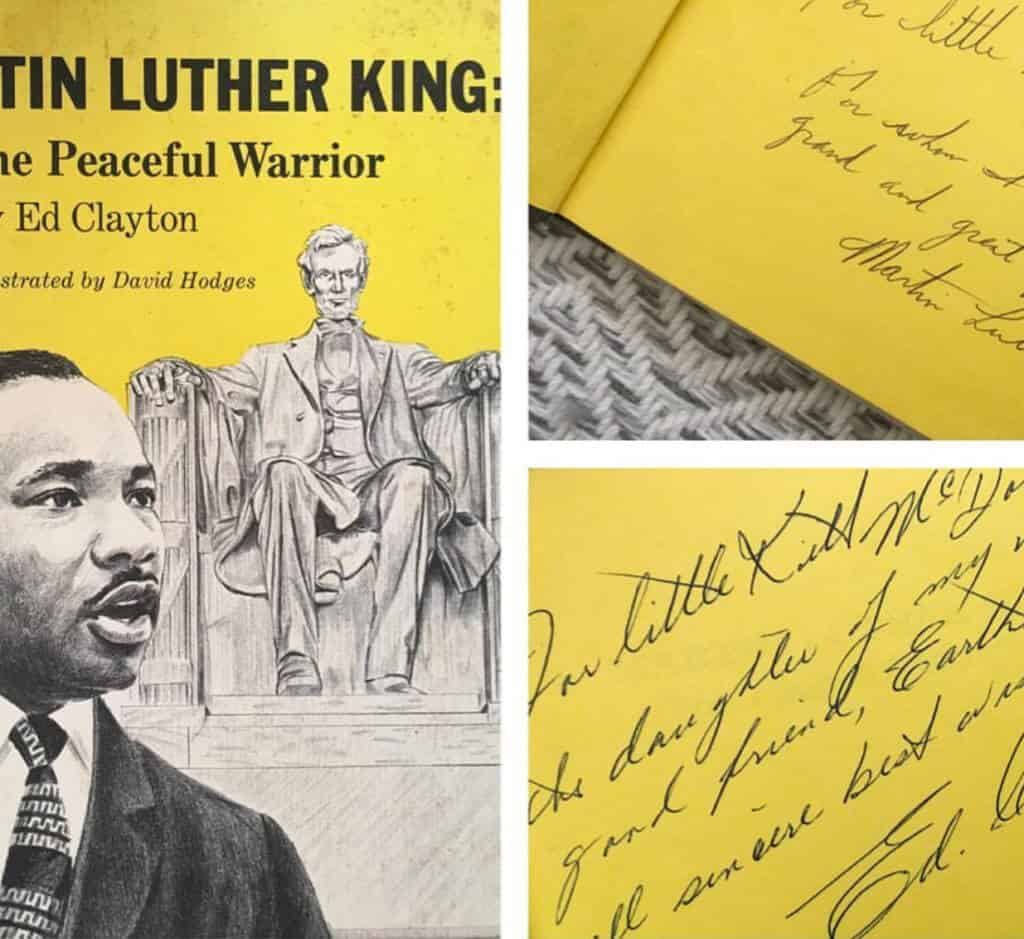 Martin Luther King book autographed