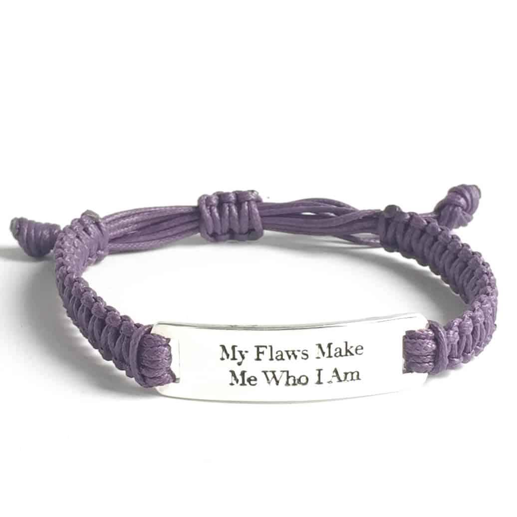 My Flaws Make Me Who IAm cord purple