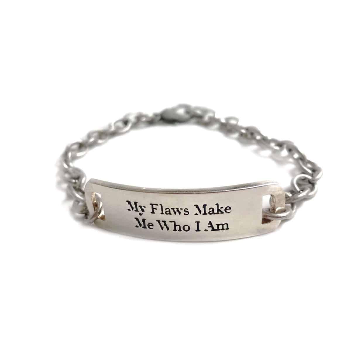 Embrace Who You Are Eartha Kitt quote bracelet