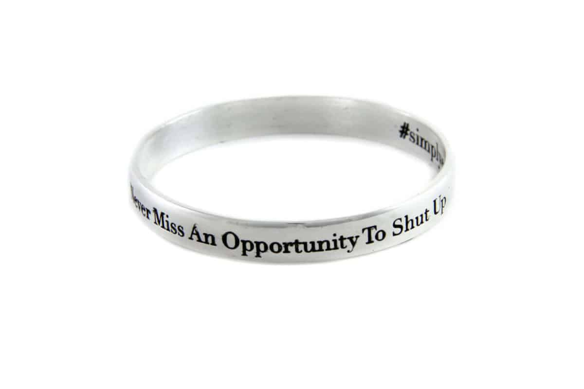 Never Miss An Opportunity bangle