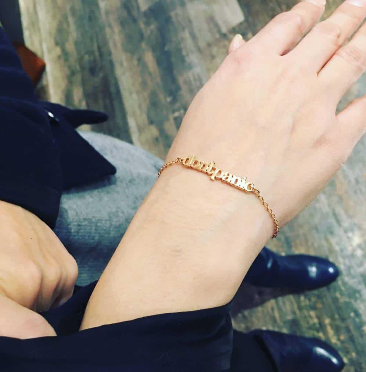 Simply Eartha Don't Panic Chain Bracelet