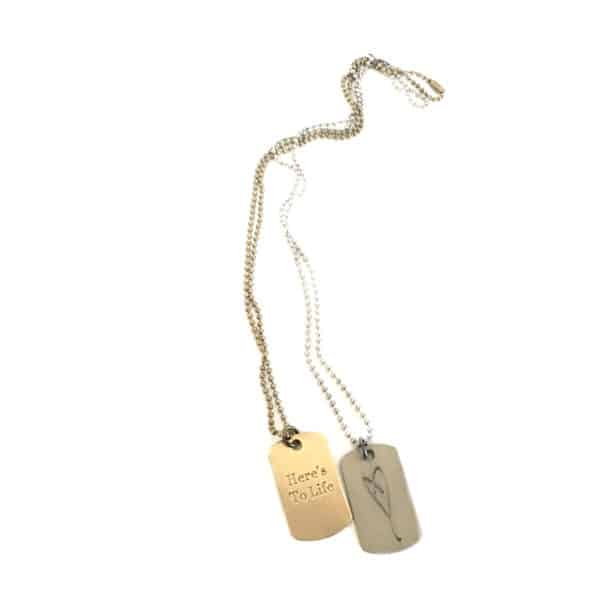 Simply Eartha Heart tag necklace