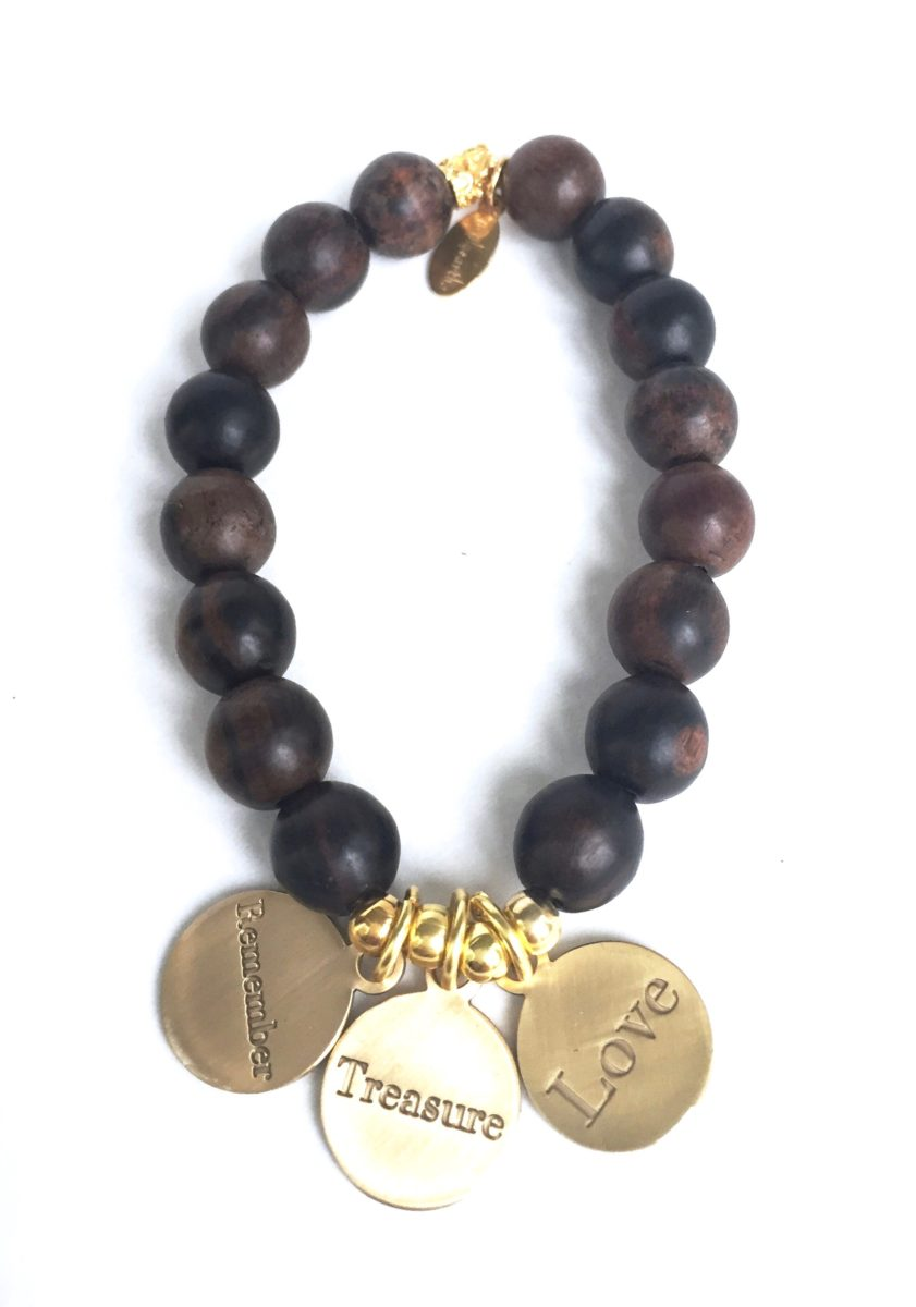 Simply Eartha Remember Treasure Love charm bracelet