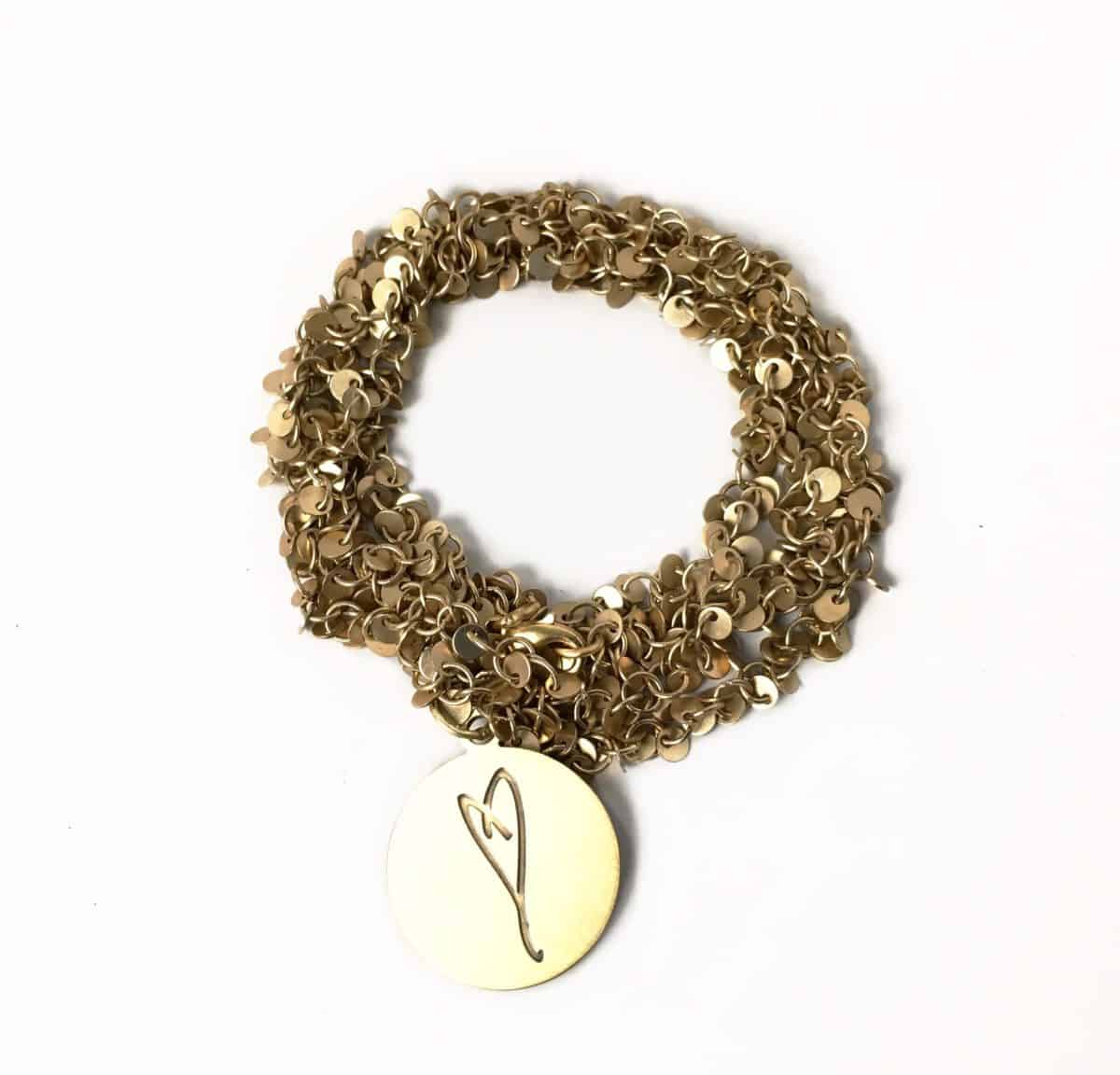 Here's To Life Heart Gold Wrap Bracelet