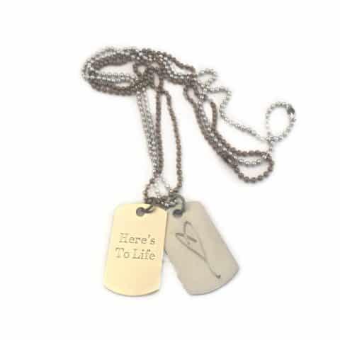 Mini tags with Eartha Kitt's heart