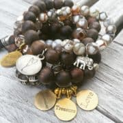 Simply Eartha charm bracelet stack
