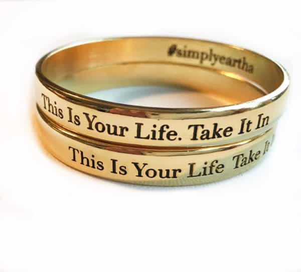 what is your word, gold bangle bracelet, wisdom jewelry