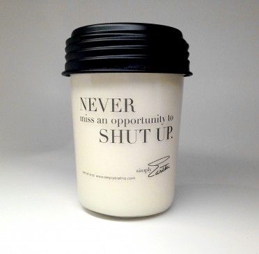 Simply Eartha Soy Candle - Shutup