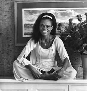 Eartha Kitt at home