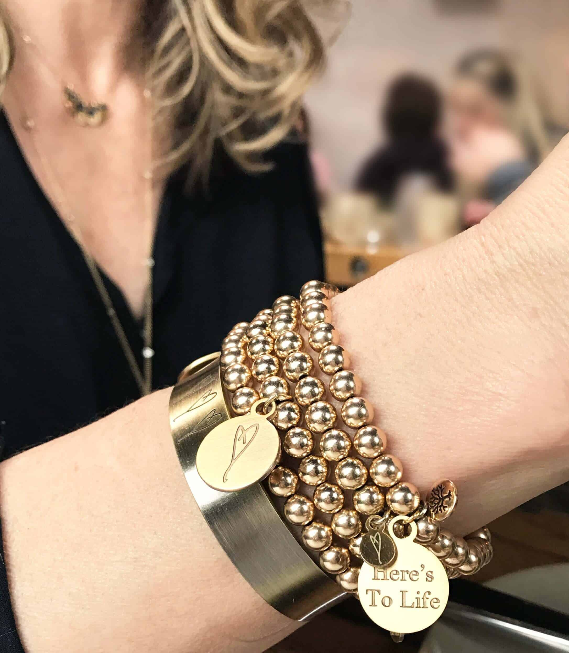 tone gallery product jewelry normal pave bracelets kors pav heart lyst bangles gold michael embellished in metallic bracelet bangle charm