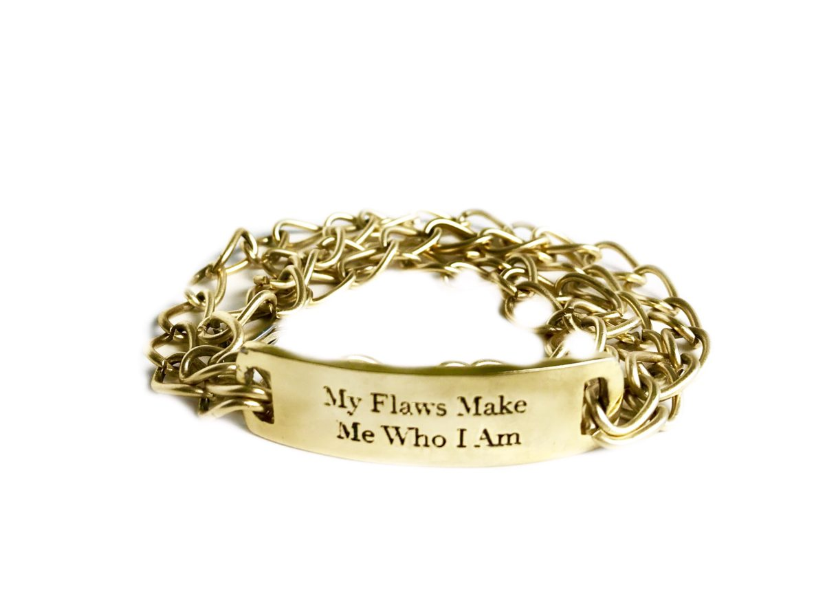 My Flaws Make Me Who I Am chain wrap bracelet